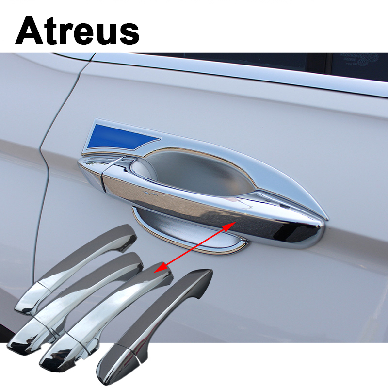 Atreus 4pcs Car Accessories ABS Door Handle Trim Stickers Covers Special For Volkswagen VW Tiguan 2 MK2 2016 Tiguan 2017 2018 image