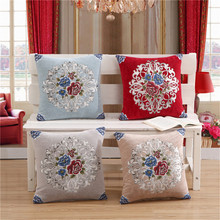 Фото - 45x45cm Chenille European Style Luxury Bed Decorative Throw Pillowcase Cushion Cover Home Chair Embroidery Pillow Cover van gogh oil painting series decorative pillowcase gauguin chair vase bouquet forget me not print sofa cushion cover 45x45cm
