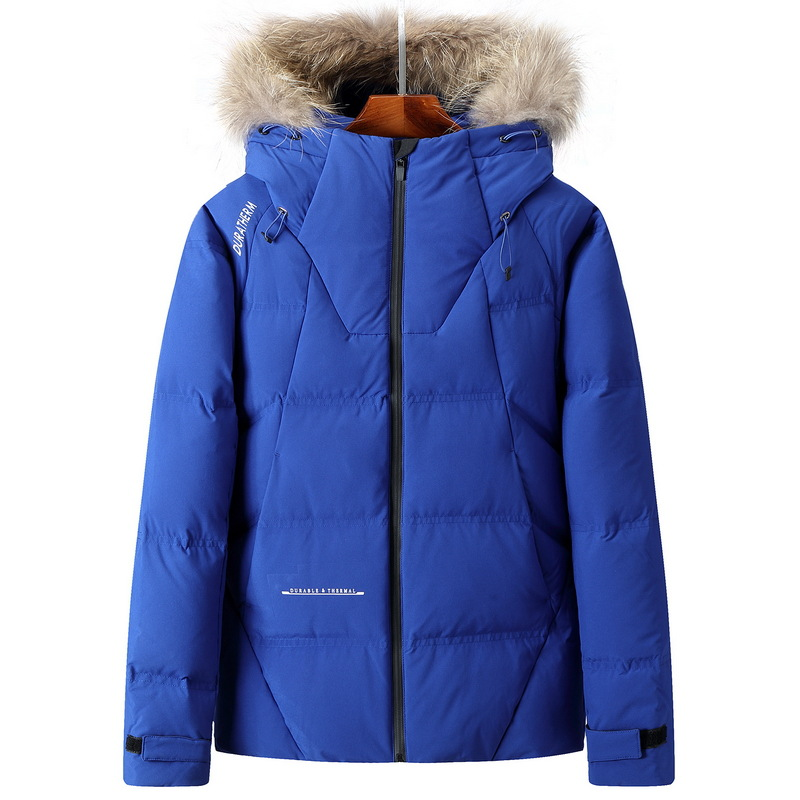 2017 winter men   down   jacket natural fur collar male winter   down     coat   male short design thickening fashion snow-wear 3XL XXL XL L
