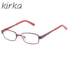 Кирка малыш винтажные металлические оптические очки рамки девушка глаз очки Рамка для детей девочек мальчиков