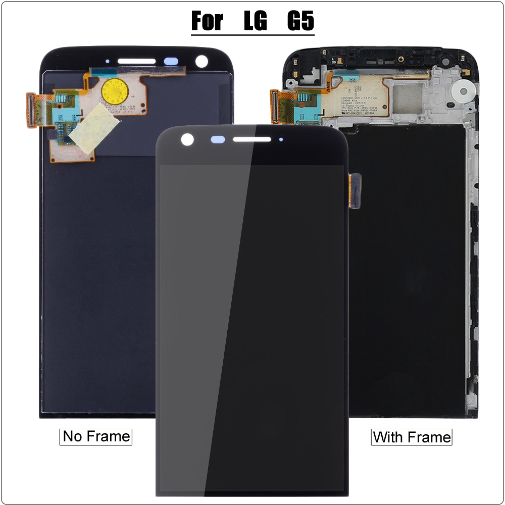 Grade AAA+ LCD for LG G5 H860 H850 H840 H820 Touch Screen Digitizer Assembly for LG G5 LCD Display Screen Replacement with Frame