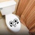 Забавный Дизайн Улыбающееся Лицо Шаблон Водонепроницаемый Туалет Наклейки Милые Смайлики Наклейки для Детей Девочек