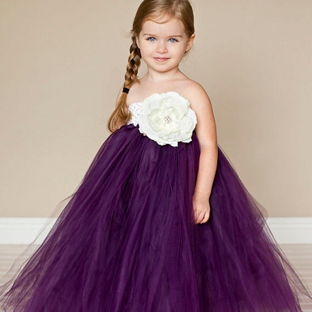 Hermosa Ciruela Púrpura Chica Vestido de Fiesta de Cumpleaños de La ...