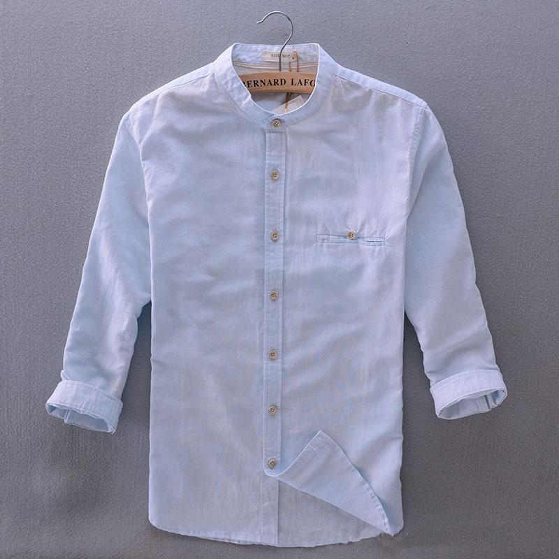 Linen Shirt Men Promotion-Shop for Promotional Linen Shirt Men on ...