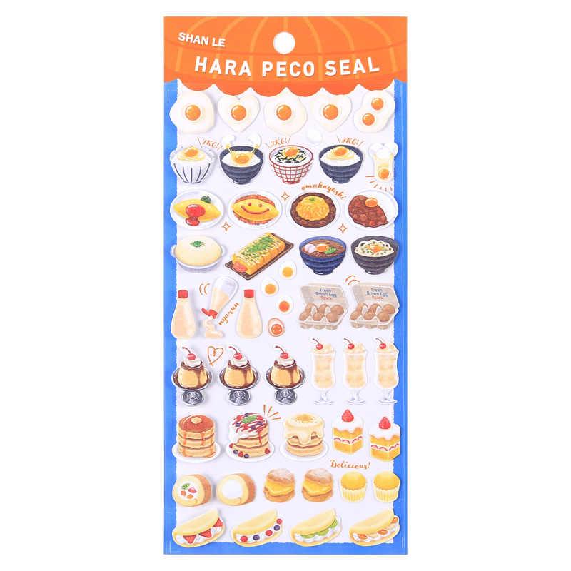 لتقوم بها بنفسك الملونة kawaii الحلوى السوشي الآيس كريم ملصقات يوميات مخطط مجلة مذكرة يوميات ورقة سجل القصاصات البومات فوتوtag