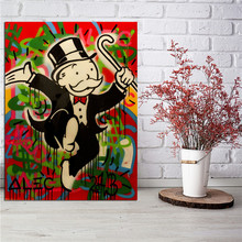 Happy Scrooge Alec Monopolyingly Money Cartoon Canvas Posters Prints Wall Art Painting Decorative Picture Modern Home Decoration