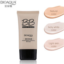 BIOAQUA Natural Flawless BB Cream 3 Colors Makeup Face Care Concealer Oil-control Liquid Foundation Moisturizing Cosmetics 40ml