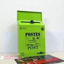 Европейский Винтажный роскошный Железный почтовый ящик ведерко оловянные газета письмо металлический водонепроницаемый почтовый ящик запираемый почтовый ящик