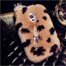 Luxury Real Rex Rabbit Hair Fur diamond bling coque Case For Samsung Galaxy S5 Note 7 3 4 5 edge Note 3 neo N7505 Fundas Carcasa