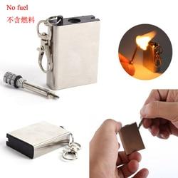 Металлический инструмент для начинающих, Зажигалка из Кремневого камня, газовая, масляная, магниевая, для выживания на улице, для походов в ...