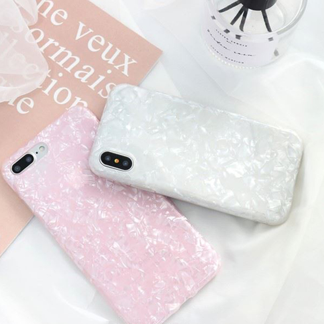 Luxury Glitter Phone Case For iPhone 7 8 Plus Dream Shell Pattern Cases For iPhone XR XS Max 7 6 6S Plus Soft TPU Silicone Cover 1