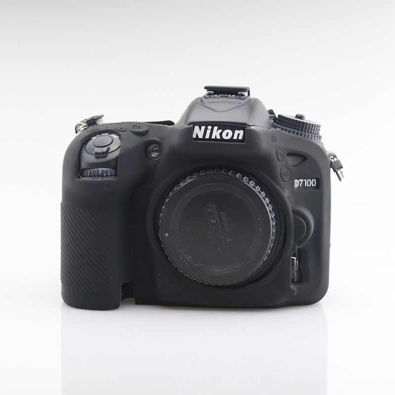 Armadura de Silicone Pele Caso Protetor de Tampa Do Corpo Da Câmera DSLR Saco De Vídeo Para Nikon D750 D5500 D5600 D7100 D7200 D3400 D7500