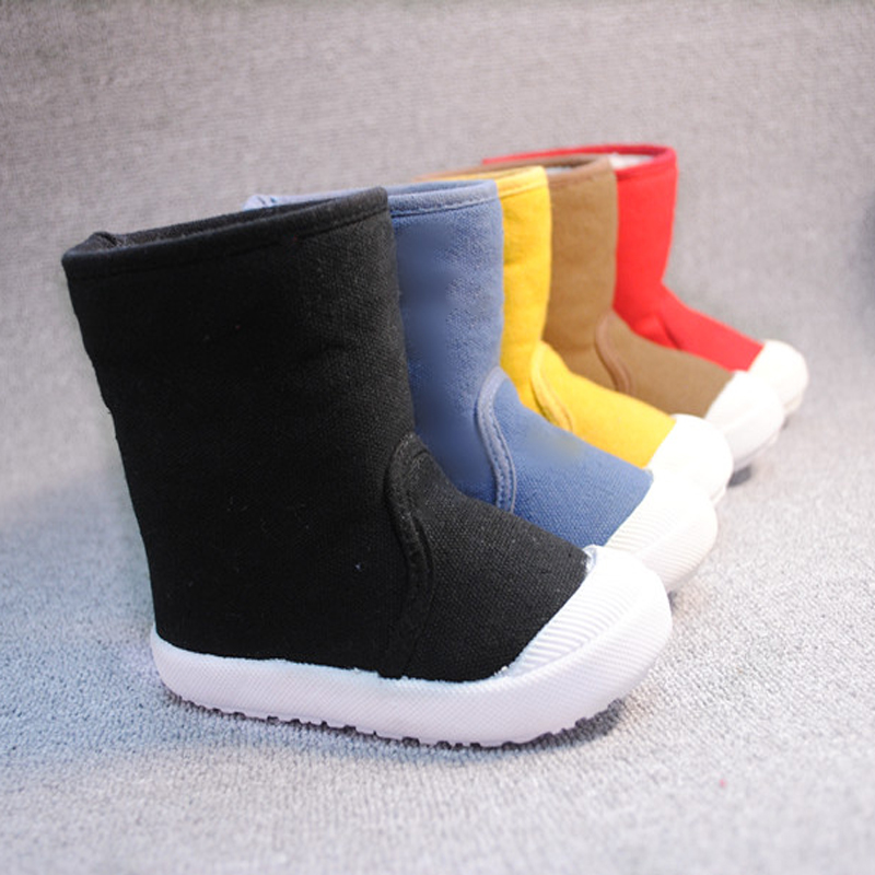 Baby Winter Snow Slip-on Boots Plush lined For Kids Boys Girls Casual Wear Shoes Ankle length