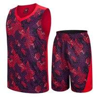 Basketball Jersey Set Men Basketball Sportswear Uniforms Suit Sets Sportwear Basketball Training Suit Jersey Jacket And
