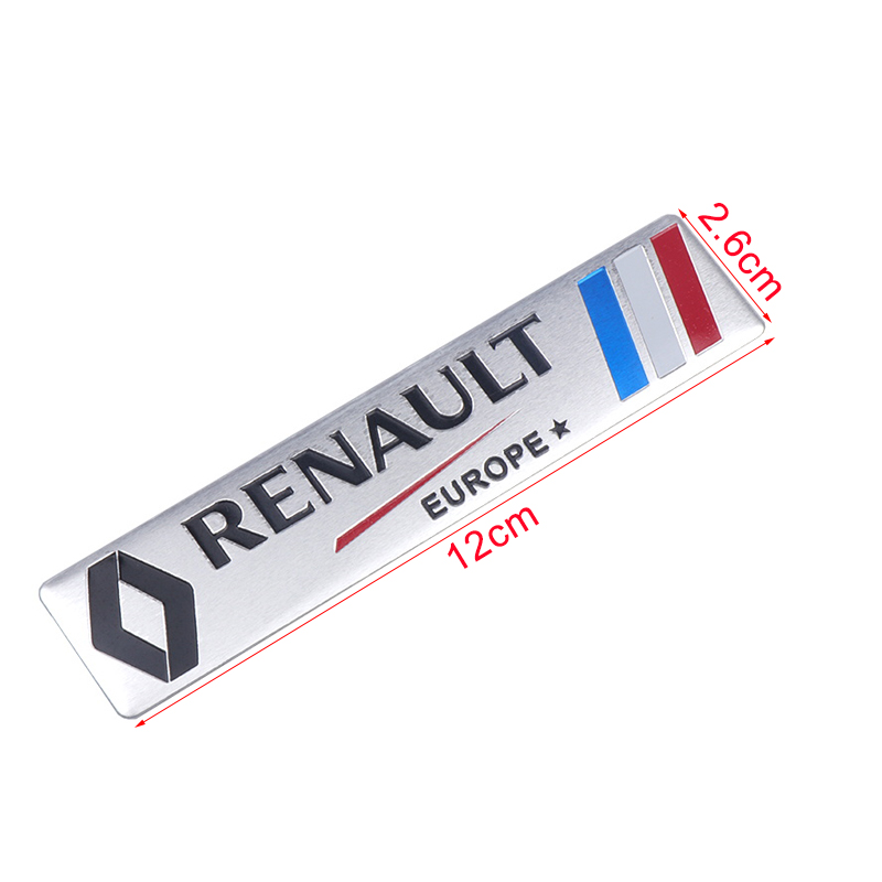 Image 2 - Car Styling 3D Aluminium Stickers Emblem Badge Decal For Renault Megane 2 3 Duster Logan Clio Laguna 2 Captur Body Decoration-in Car Stickers from Automobiles & Motorcycles