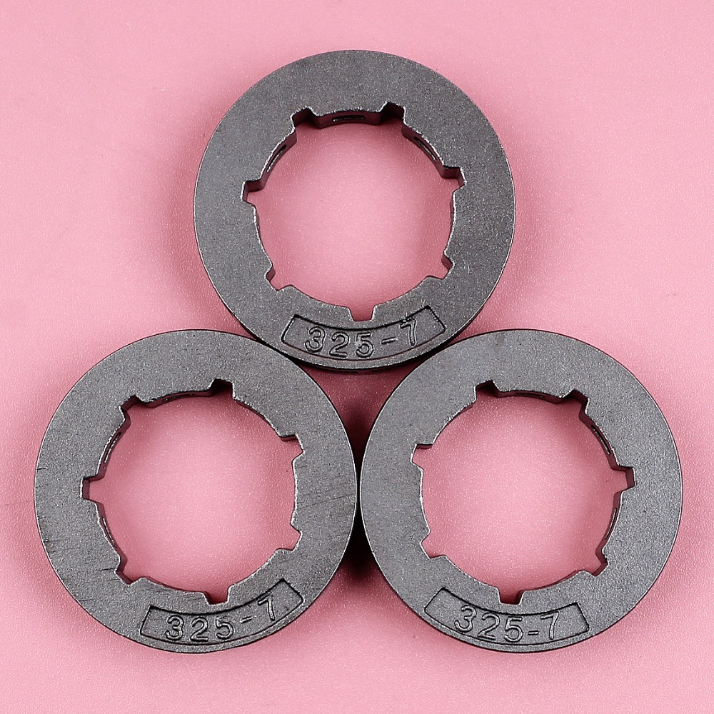 3pcs/lot .325 7T Chain Rim Sprocket For Chinese 4500 5200 5800 45cc 52cc 58cc Chainsaw Spare Parts Oregon 11892 19mm