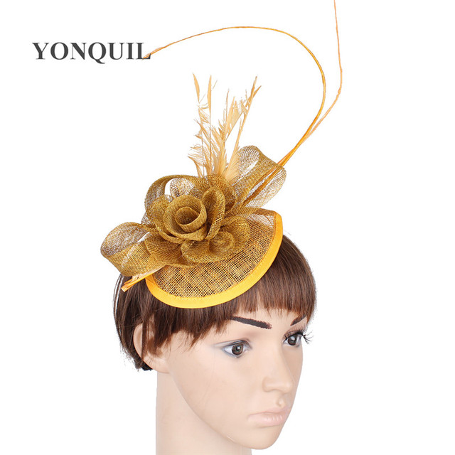 79042bf0 17 Colors Sinamay Purple DIY flower hats derby occasion teardrop fascinators  bases with fancy ostrich quill