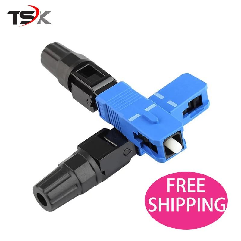 100pcs lot SC UPC FTTH Fiber optic SC connector SC UPC Optical fiber connector SC UPC