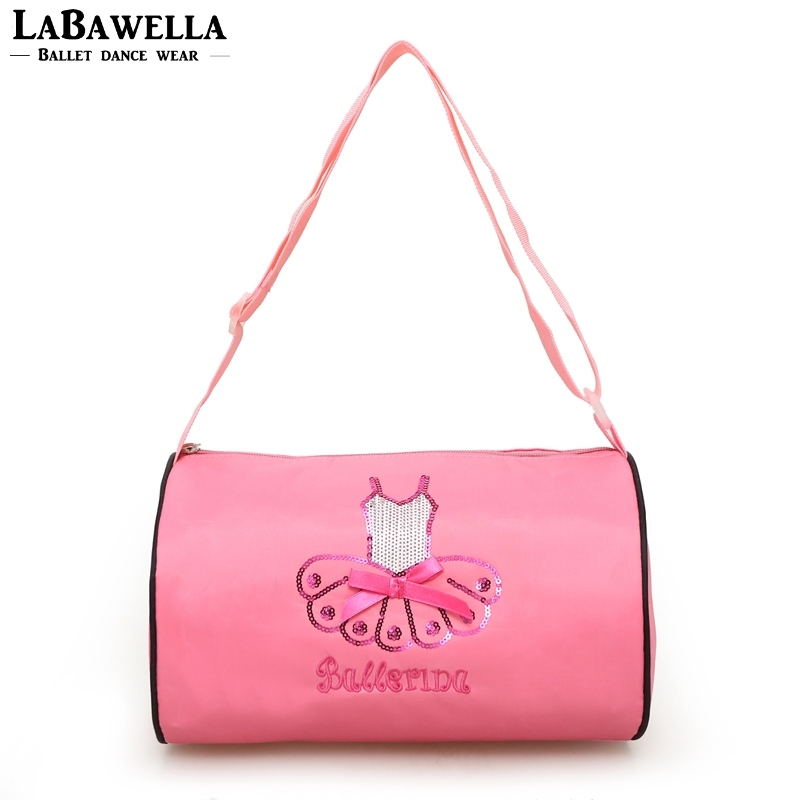 Children Pink Ballet Dancing Bag For Kids Dance Girls Cross body bags Baby Paillettes Embroidery Bags AS8656