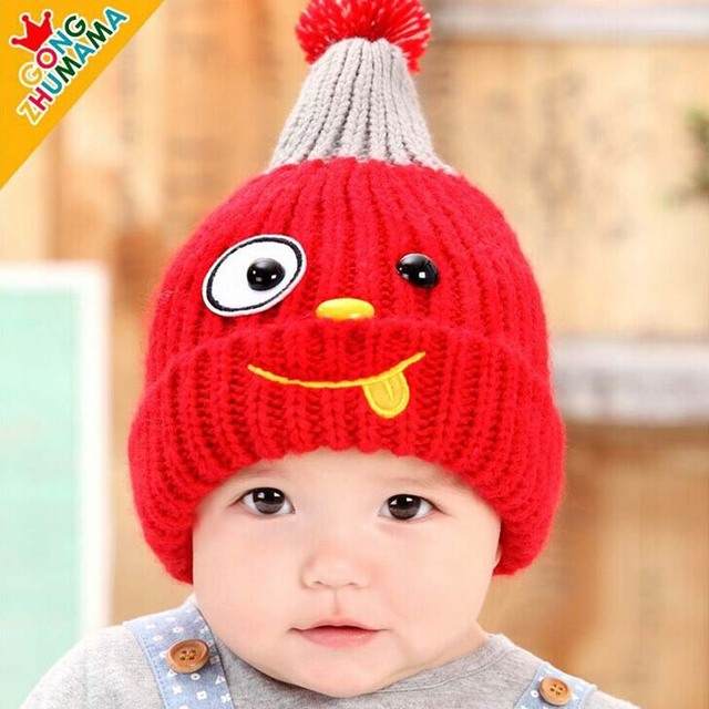 2015 New Cute handmade baby crochet Beanie Hats Girls winter Character hats  Caps For Children To Keep Warm fashion kids hats dbef84dfa3c