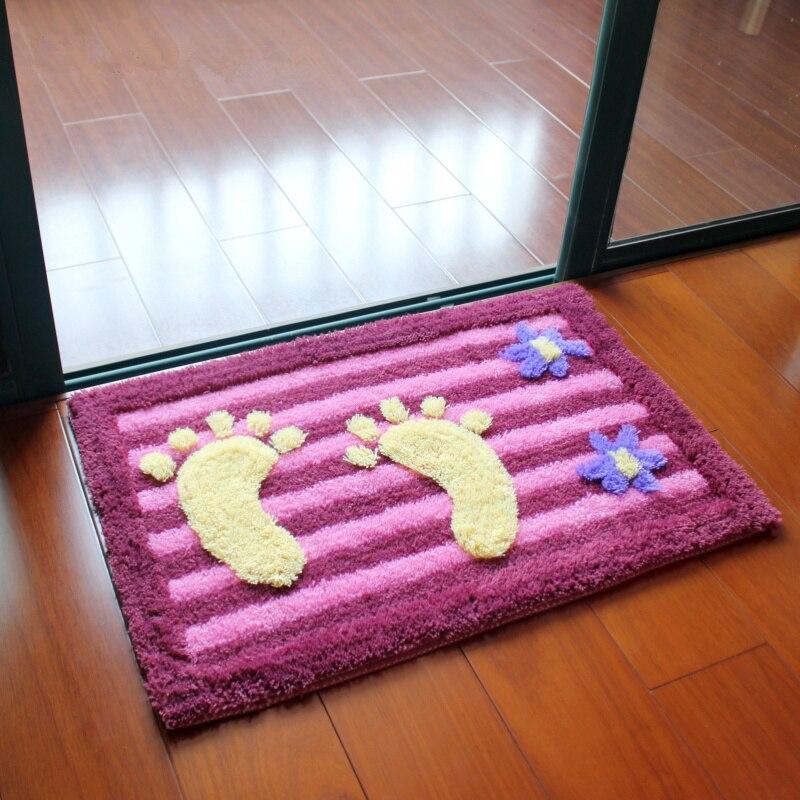 multi colore a forma di piede tappetino da bagno tappetino da bagno antiscivolo moquette