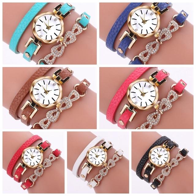 Rhinestone Luxury Gold Bracelet Watch