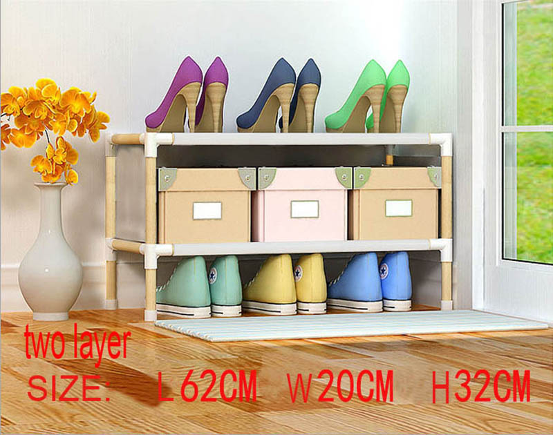 10pcs two layer wooden shoe rack  10pcs two layer wooden shoe rack