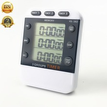 Kitchen Timer Digital LCD Magnetic Timers Cooking 3 channel Display Hour/Min/Sec AM/PM Gadgets Tools