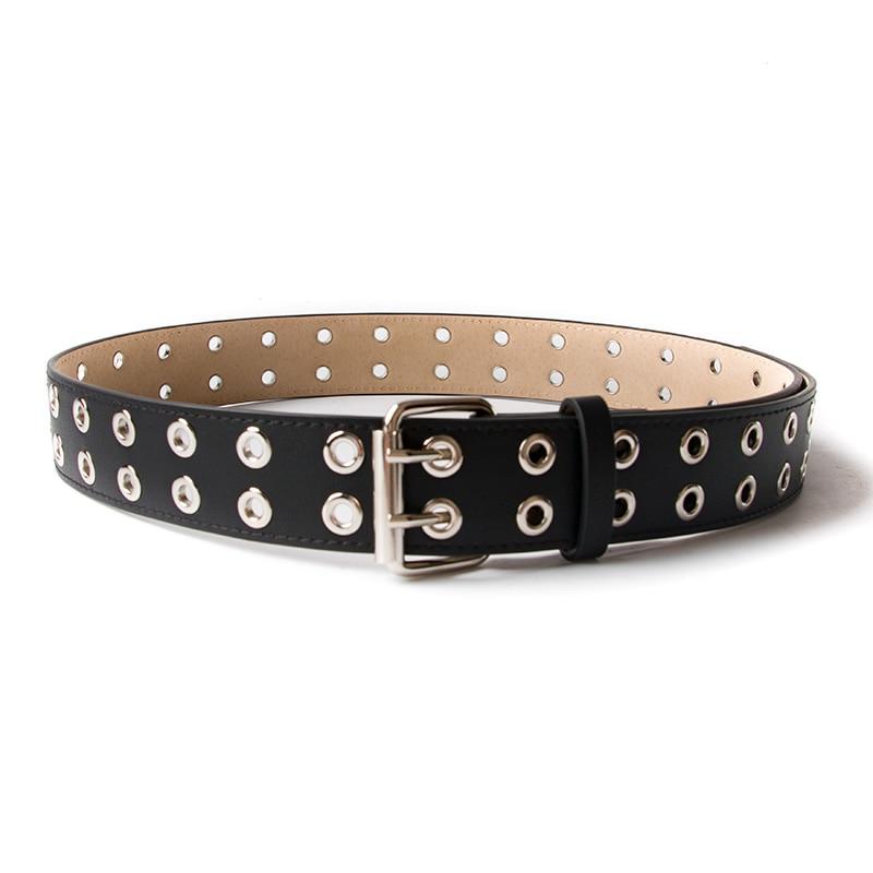 ECHAIN Vintage Rivet Luxury Designer Punk Belts Men High Quality Male Rock Motorcycle PU Leather Women Waist Strap for Jeans