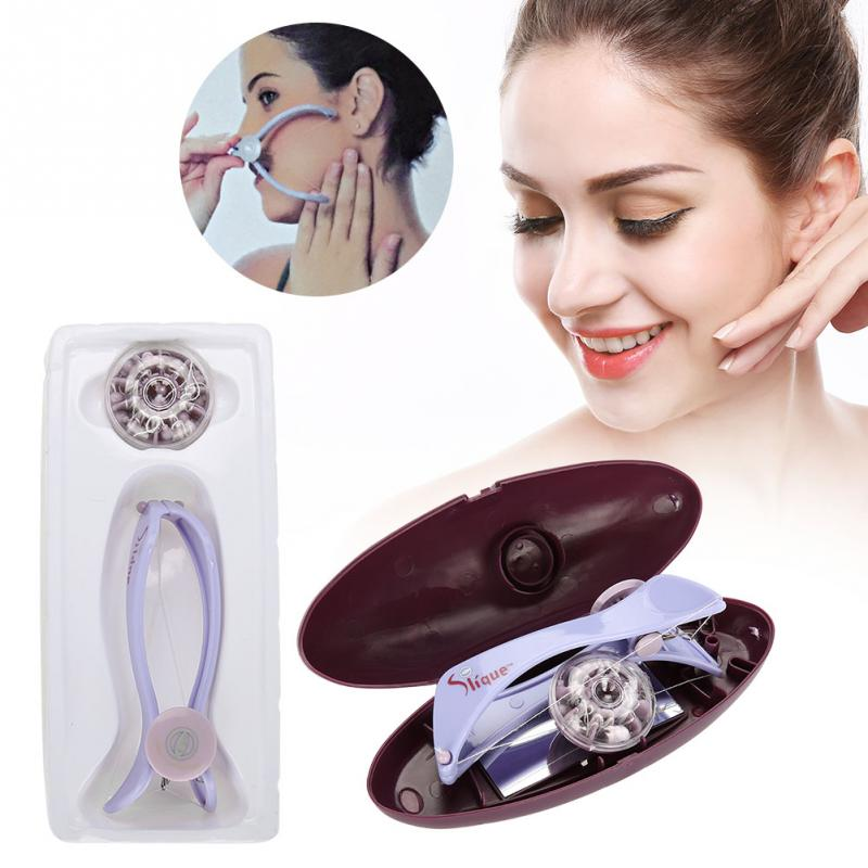 Facial Neck Hair Removel Cotton Threading Epilator Hair Removing Tool With 10 Cotton Lines