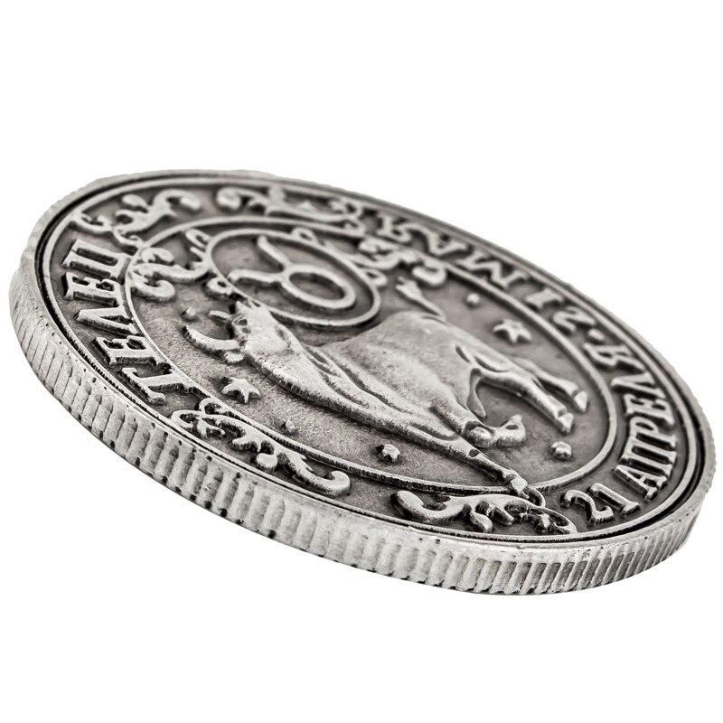 [Телец] Lucky Charm ремесла Старый Китай монеты. Знак зодиака реплики монет альбом. любовь подарок сувенир Созвездие серии металлические монеты