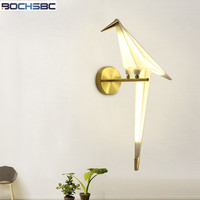 20x50cm Acrylic Origami Wall Lamps Modern Bedside Light Creative Design Living Room LED Wall Lamp For
