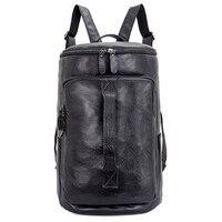J.M.D Genuine Leather Solid Bag Multi Functions Laptop Bag Men's Large Capacity Travel Backpack Bag 2006A