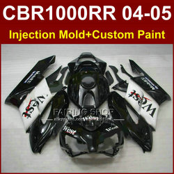 West mobil 1 cbr1000 rr 04 05 for HONDA body parts CBR1000 RR 04 05 CBR1000RR 2004 2005 Injection mold Motorcycle black fairings