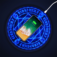 Magic Array Circle Wireless Charger Qi Wireless Fast Quick Charging Pad for iPhone X XS 8 Samsung Xiaomi Redmi Huawei Honor