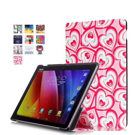 Printed leather cover For Asus Zenpad 10 Z300CLmagnetic leather cover case forZ300CG Z300C 10.1 tablet funda cases + free gift чехол для asus zenpad z580c z580ca it baggage эко кожа черный