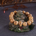 Fashion Charm Bracelet men Tibet Buddhist Lama wenge Prayer Beads  Bracelets for women Christmas Accessories gift