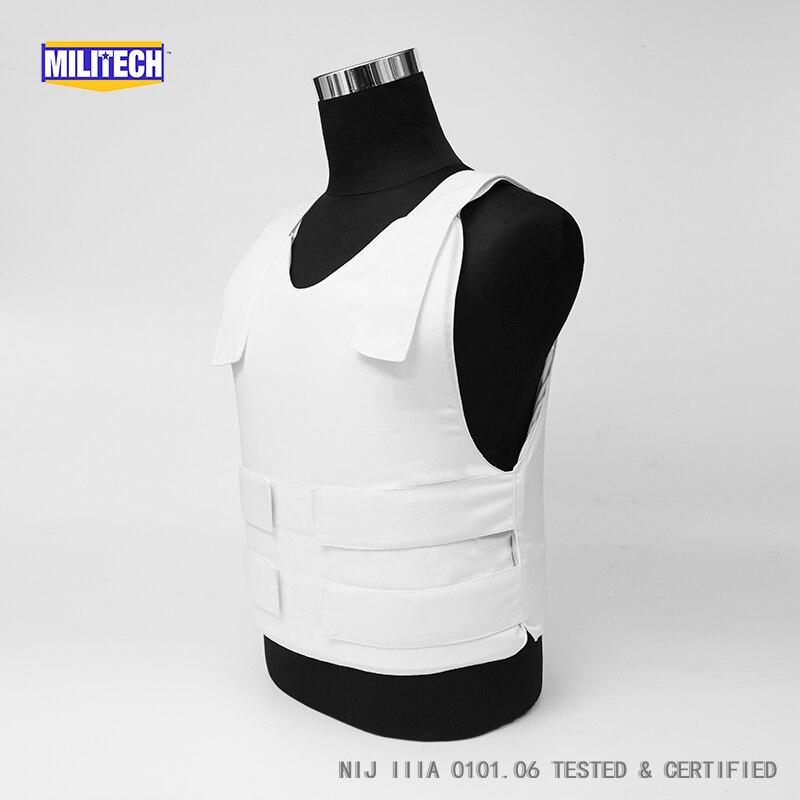 Militech NIJ IIIA 3A 0101.06 & NIJ 0101.07 HG2 Concealable Twaron Aramid Bulletproof Vest Covert Ballistic Vest Body Armor Vest