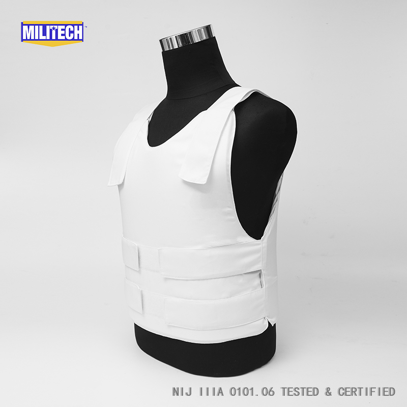 Militech NIJ IIIA 3A Concealable Twaron Aramid Bulletproof Vest Covert Ballistic Bullet Proof Vest Low Profile Body Armor Vest bulletproof vest military tactical army concealable bullet proof bullet proof vest chaleco antibalas low profile body armor