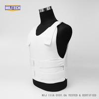 Militech NIJ IIIA 3A Concealable Twaron Aramid Bulletproof Vest Covert Ballistic Bullet Proof Vest Low Profile Body Armor Vest