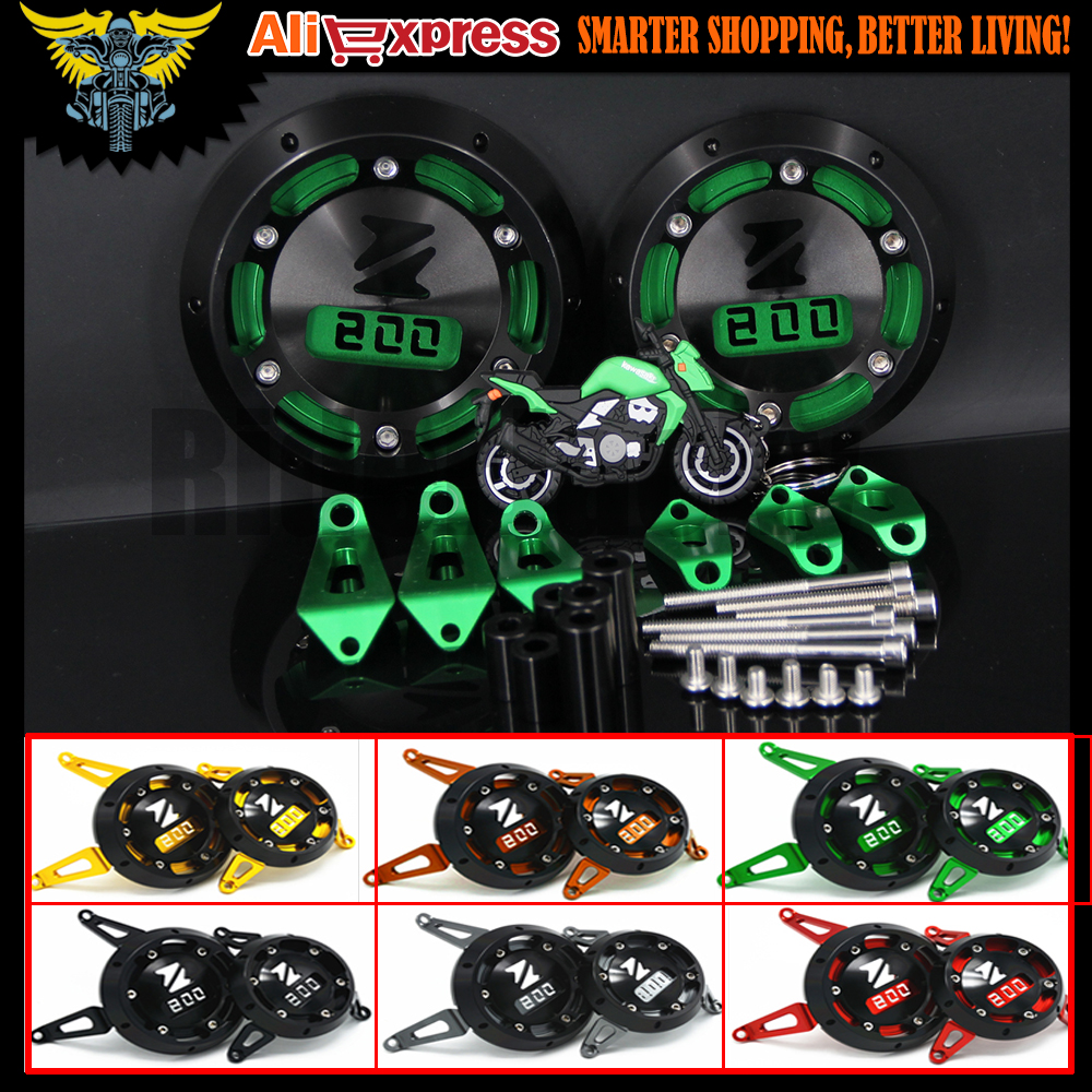 Black Red Golden Green Gary Motorcycle CNC Aluminum Engine Stator Cover Engine Protective Cover For KAWASAKI