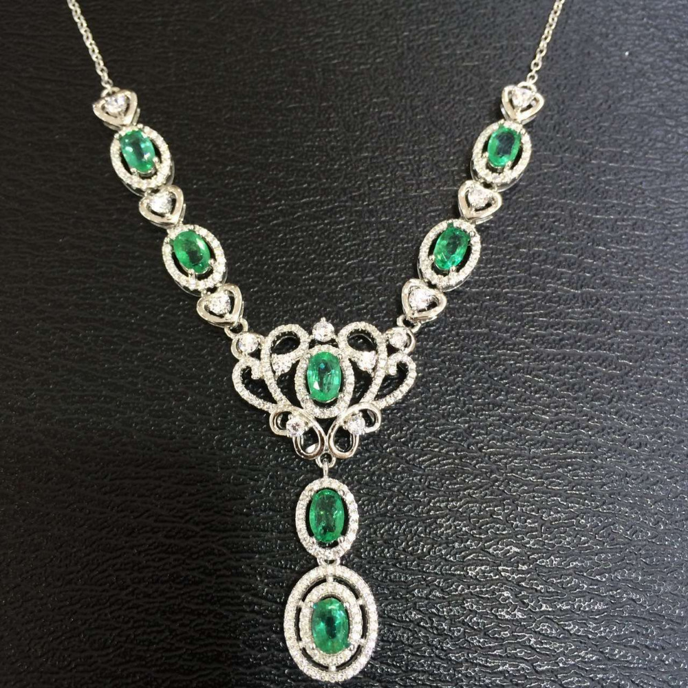 pinto jewelry emerald necklace shop pendant format jacqueline fine clover