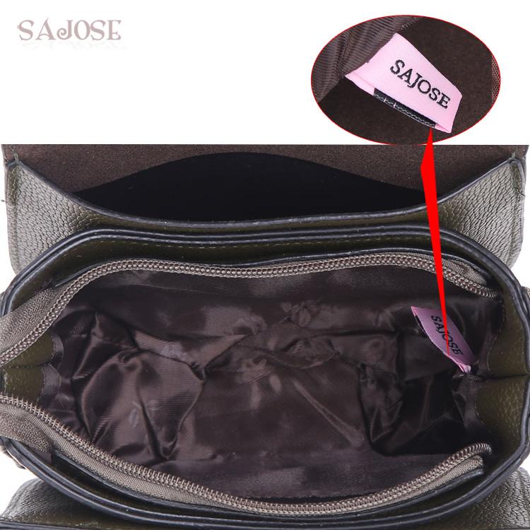 SAJOSE Women Small Hand Bag Flowers Designer Leather Shoulder Woman's Fashion Messenger Lady Crossbody Luxury Handbag Women Bags 9