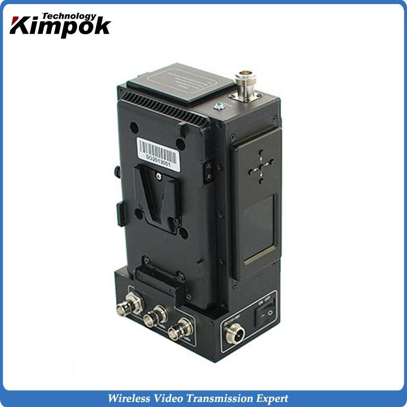 5W RF Power HD COFDM Wireless Transmitter and Receiver Live Broadcasting Video Audio Transmitter HD AV Sender