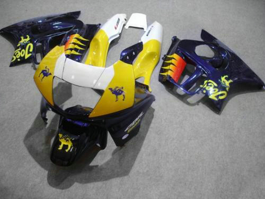 Top-selling plastic Fairing kit for Honda CBR600 F3 97 98 yellow white blue fairings set CBR600 F3 1997 1998 FV29