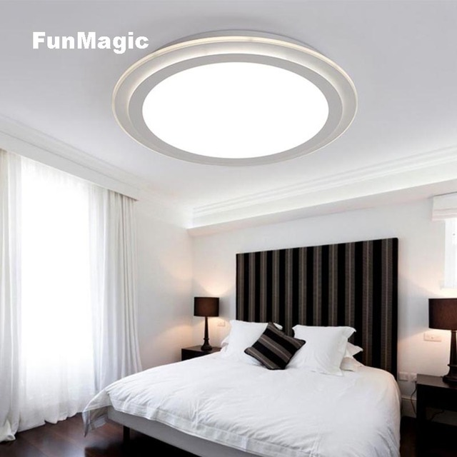 Bright Living Room Ceiling Lights Corner Unit Modern Simple Round Led Light Bedroom Study Ufo Lighting Surface Mounted Fixture Lamp Soft Dimming