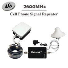 Lintratek 2600MHz 4G LTE Signal Repeater 65db 20dBm 4G 2600 Mobile Phone Signal Boosters Mini 4G LTE Amplifier Antenna Full Kits