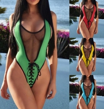 Phaixoneible New Swimwear One Piece Swimsuit Women Monokini Sexy Bathing Suit Push Up Beachwear Female Halter