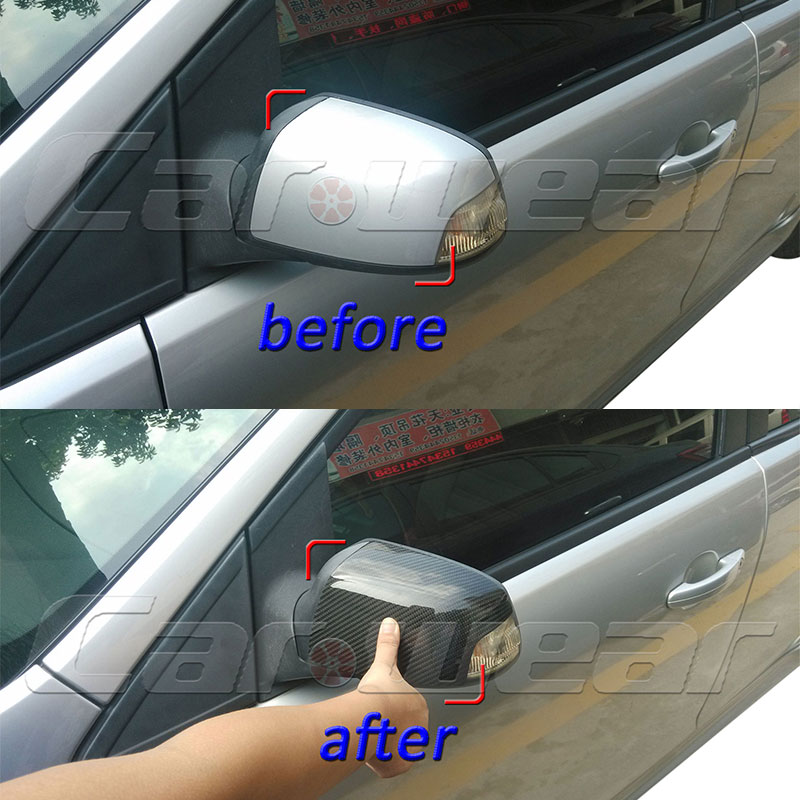 MK2 Carbon Fiber Car Rear view Mirror Housing Cover Trim for Ford Focus MK2 2007~2013
