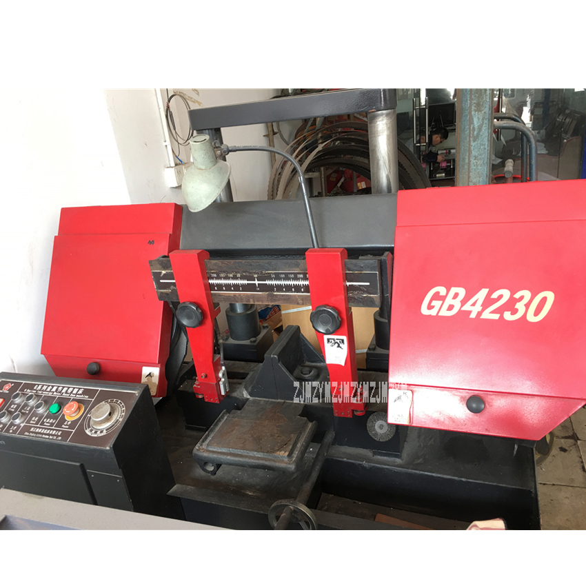 GB4230 Double Machine de sciage à bande horizontale cylindrique scie à ruban hydraulique en métal 220 V/380 V 3KW 24/41/52/79 m/min